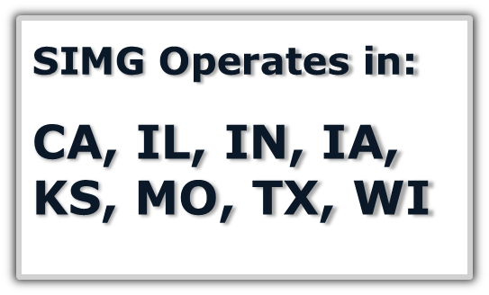 States Where SIMG is available CA, IL, IN, IA, KS, MO, TX, and WI